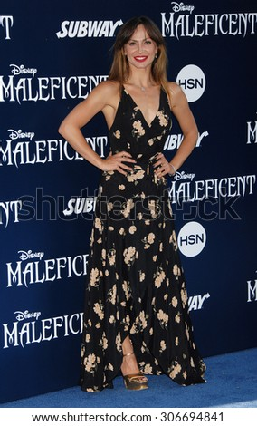 LOS ANGELES - MAY 28:  Karina Smirnoff arrives at the Maleficent WORLD Premiere  on May 28, 2014 in Hollywood, CA                 - stock photo