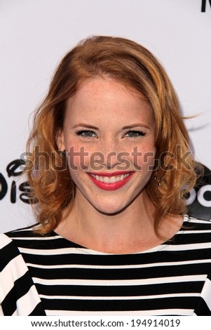 LOS ANGELES - MAY 19:  Katie Leclerc at the Disney Media Networks International Upfronts at Walt Disney Studios on May 19, 2013 in Burbank, CA