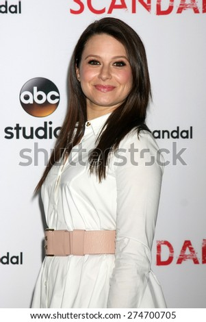 """LOS ANGELES - MAY 1:  Katie Lowes at the """"Scandal"""" For Your Consideration ATAS Event at the Directors Guild of America on May 1, 2015 in Los Angeles, CA - stock photo"""