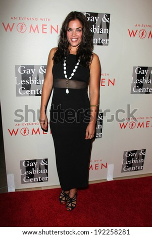"LOS ANGELES - MAY 10:  Kelly Thiebaud at the L.A. Gay & Lesbian Center's ""An Evening With Women"" at Beverly Hilton Hotel on May 10, 2014 in Beverly Hills, CA"