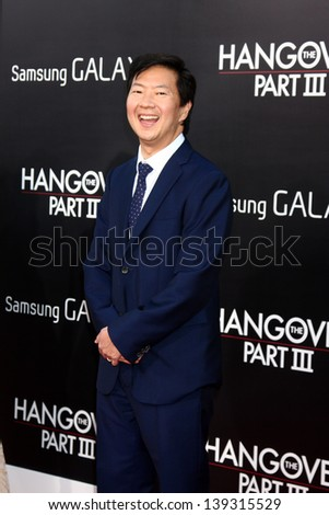 "LOS ANGELES - MAY 20:  Ken Jeong at the ""Hangover III"" LA premiere at the Village Theater on May 20, 2013 in Westwood, CA"