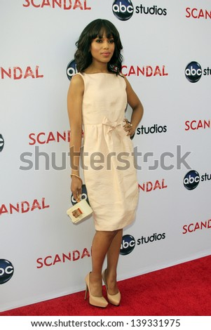 LOS ANGELES - MAY 16: Kerry Washington at the Academy of Television Arts & Sciences' Presents an Evening with 'Scandal' at the Leonard H. Goldenson Theater on May 16, 2013 in North Hollywood, CA - stock photo