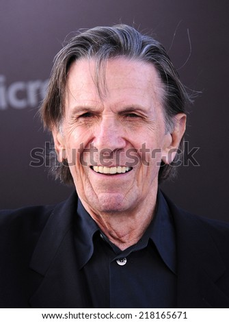 "LOS ANGELES - MAY 14:  Leonard Nimoy  arrives to the ""Star Trek Into Darkness"" Los Angeles Premiere  on May 14, 2013 in Hollywood, CA                 - stock photo"
