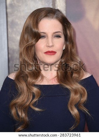 """LOS ANGELES - MAY 07:  Lisa Marie Presley arrives to the """"Mad Max: Fury Road"""" Los Angeles Premiere  on May 7, 2015 in Hollywood, CA                 - stock photo"""