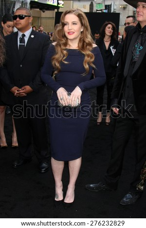 LOS ANGELES - MAY 7:  Lisa Marie Presley at the Mad Max: Fury Road Los Angeles Premiere at the TCL Chinese Theater IMAX on May 7, 2015 in Los Angeles, CA - stock photo