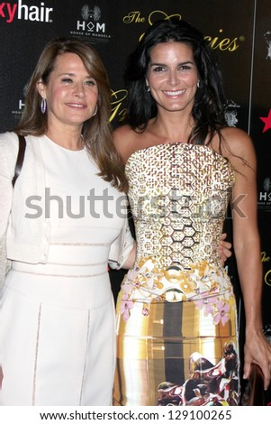 LOS ANGELES - MAY 22:  Lorraine Bracco, Angie Harmon at the 37th Annual Gracie Awards Gala at Beverly Hilton Hotel on May 22, 2012 in Beverly Hills, CA. - stock photo
