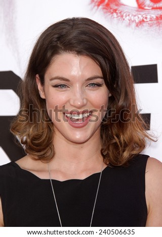 """LOS ANGELES - MAY 30:  LUCY GRIFFITHS arrives to """"True Blood"""" Season 5 Premiere  on May 30, 2012 in Hollywood, CA                 - stock photo"""