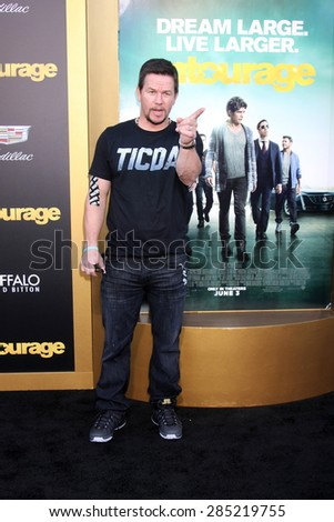 "LOS ANGELES - MAY 27:  Mark Wahlberg at the ""Entourage"" Movie Premiere at the Village Theater on May 27, 2015 in Westwood, CA"
