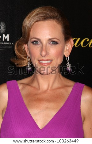 LOS ANGELES - MAY 22:  Marlee Matlin arrives at the 37th Annual Gracie Awards Gala at Beverly Hilton Hotel on May 22, 2012 in Beverly Hllls, CA - stock photo