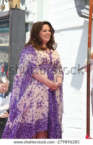 LOS ANGELES - MAY 19:  Melissa McCarthy at the Melissa McCarthy Hollywood Walk of Fame Ceremony at the TCL Chinese Theater on May 19, 2015 in Los Angeles, CA - stock photo