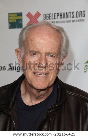"LOS ANGELES - MAY 26:  Mike Farrell at the ""Illicit Ivory"" World Premiere at the Witherbee Auditorium at the Los Angeles Zoo  on May 26, 2015 in Los Angeles, CA - stock photo"