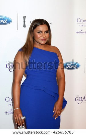 LOS ANGELES - MAY 24:  Mindy Kaling at the 41st Annual Gracie Awards Gala at Beverly Wilshire Hotel on May 24, 2016 in Beverly Hills, CA - stock photo