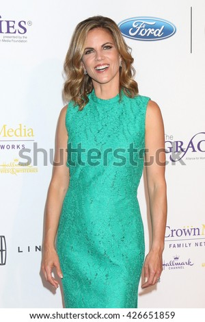 LOS ANGELES - MAY 24:  Natalie Morales at the 41st Annual Gracie Awards Gala at Beverly Wilshire Hotel on May 24, 2016 in Beverly Hills, CA - stock photo