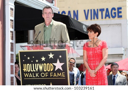 LOS ANGELES - MAY 22: Patricia Heaton, Neil Flynn at a ceremony honoring Patricia Heaton with a Star on The Hollywood Walk of Fame on May 22, 2012 in Los Angeles, California
