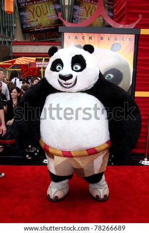 "LOS ANGELES - MAY 22:  Po arriving at the ""Kung Fu Panda 2"" Los Angeles Premiere at Grauman's Chinese Theatre on May 22, 2011 in Los Angeles, CA - stock photo"