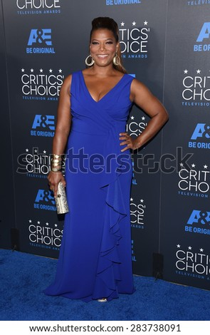LOS ANGELES - MAY 31:  Queen Latifah arrives to the Critic's Choice Television Awards 2015  on May 31, 2015 in Hollywood, CA                 - stock photo