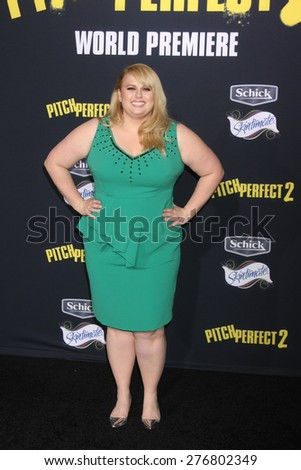 "LOS ANGELES - MAY 9:  Rebel WIlson at the ""Pitch Perfect 2"" World Premiere at the Nokia Theater on May 9, 2015 in Los Angeles, CA - stock photo"