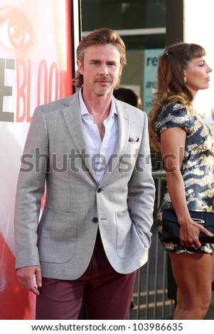 "LOS ANGELES - MAY 30:  Sam Trammell arrives at the ""True Blood"" 5th Season Premiere at Cinerama Dome Theater on May 30, 2012 in Los Angeles, CA"