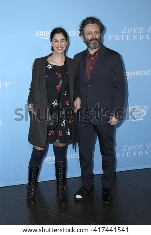 LOS ANGELES - MAY 3:  Sarah Silverman, Michael Sheen at the Love & Friendship LA Premiere at the DGA Theater on May 3, 2016 in Los Angeles, CA