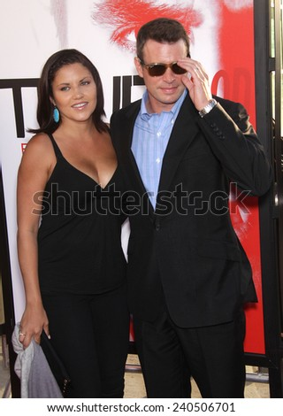 "LOS ANGELES - MAY 30:  SCOTT FOLEY & WIFE arrives to ""True Blood"" Season 5 Premiere  on May 30, 2012 in Hollywood, CA"