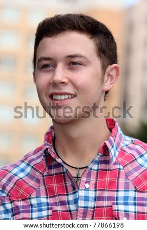 LOS ANGELES - MAY 23:  Scotty McCreery at the Simon Fuller Hollywood Walk Of Fame Star Ceremony at W Hotel - Hollywood on May 23, 2011 in Los Angeles, CA - stock photo