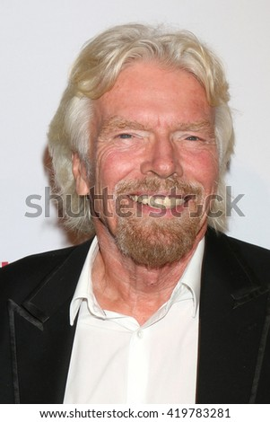 LOS ANGELES - MAY 12:  Sir RIchard Branson at the Power Up Gala at the Beverly Wilshire Hotel on May 12, 2016 in Beverly Hills, CA - stock photo