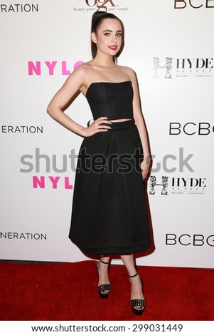 LOS ANGELES - MAY 7:  Sofia Carson at the NYLON Magazine Young Hollywood Issue Party  at the HYDE Sunset on May 7, 2015 in West Hollywood, CA - stock photo
