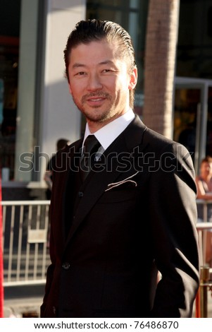 "LOS ANGELES - MAY 2:  Tadanobu Asano arriving at the ""Thor"" World Premiere at El Capitan theater on May 2, 2011 in Los Angeles, CA"