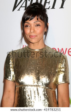 LOS ANGELES - MAY 12:  Tamara Taylor at the Power Up Gala at the Beverly Wilshire Hotel on May 12, 2016 in Beverly Hills, CA - stock photo