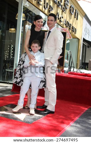 LOS ANGELES - MAY 1:  ulianna Margulies, Kieran Lieberthal, Keith Lieberthal at the Julianna Margulies Hollywood Walk of Fame Star Ceremony at the Hollywood Boulevard on May 1, 2015 in Los Angeles, CA