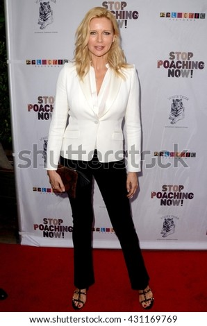 LOS ANGELES - MAY 25:  Veronica Ferres at the Stop Poaching Now 2016 Gala at the Ago Restaurant, on May 25, 2016 in West Hollywood, CA - stock photo