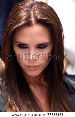 LOS ANGELES - MAY 23:  Victoria Beckham at the Simon Fuller Hollywood Walk Of Fame Star Ceremony at W Hotel - Hollywood on May 23, 2011 in Los Angeles, CA - stock photo