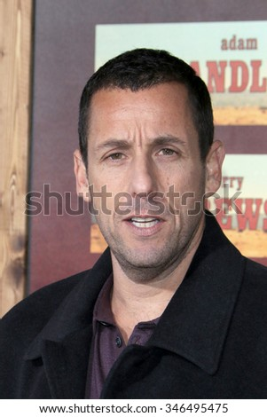 """LOS ANGELES - NOV 30:  Adam Sandler at the """"The Ridiculous 6"""" Premeire Screening at the AMC Theaters at CityWalk on November 30, 2015in Los Angeles, CA - stock photo"""