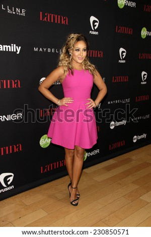 LOS ANGELES - NOV 13:  Adrienne Bailon at the Latina Magazine's '30 Under 30' Party at the Mondrian Hotel on November 13, 2014 in West Hollywood, CA - stock photo