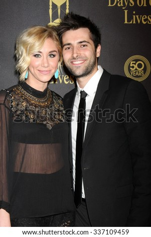 LOS ANGELES - NOV 7:  Alyssa Tabit, Freddie Smith at the Days of Our Lives 50th Anniversary Party at the Hollywood Palladium on November 7, 2015 in Los Angeles, CA - stock photo