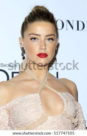 LOS ANGELES - NOV 14:  Amber Heard at the Glamour Women Of The Year 2016 at NeueHouse Hollywood on November 14, 2016 in Los Angeles, CA