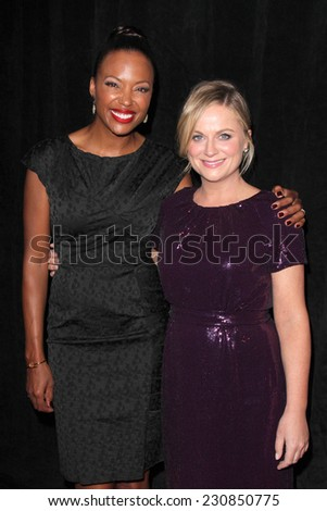 LOS ANGELES - NOV 11:  Amy Poehler, Aisha Tyler at the PEN Center USA 24th Annual Literary Awards at the Beverly Wilshire Hotel on November 11, 2014 in Beverly Hills, CA - stock photo