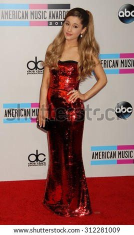 LOS ANGELES - NOV 24:  Arianna Grande arrives at the 2013 American Music Awards Arrivals  on November 24, 2013 in Los Angeles, CA                 - stock photo