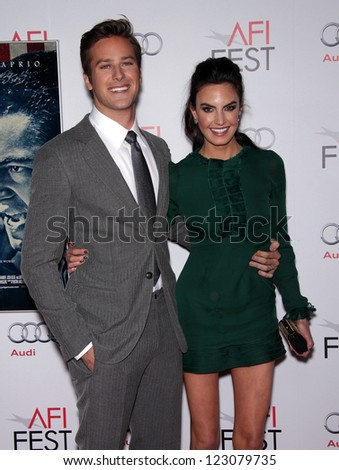 "LOS ANGELES - NOV 03:  Armie Hammer & Elizabeth Chambers arriving to ""J. Edgar"" Los Angeles Premiere  on November 03, 2011 in Hollywood, CA"