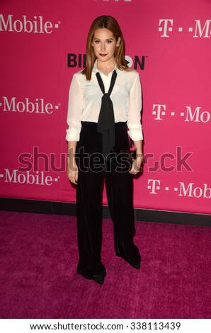 LOS ANGELES - NOV 10:  Ashley Tisdale at the T-Mobile Un-carrier X Launch Celebration at the Shrine Auditorium on November 10, 2015 in Los Angeles, CA - stock photo