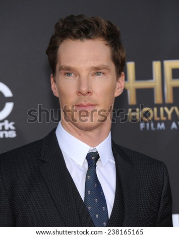 LOS ANGELES - NOV 14:  Benedict Cumberbatch arrives to the The Hollywood Film Awards 2014 on November 14, 2014 in Hollywood, CA                 - stock photo