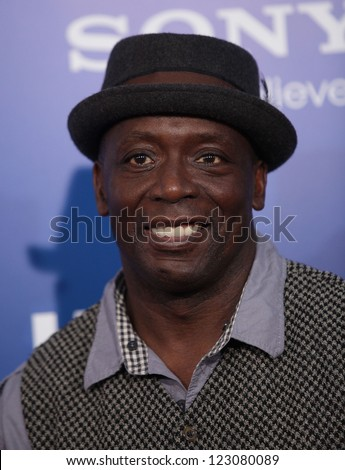 "LOS ANGELES - NOV 06:  BILLY BLANKS arriving to""Jack and Jill"" Los Angeles Premiere  on November 06, 2011 in Westwood, CA - stock photo"