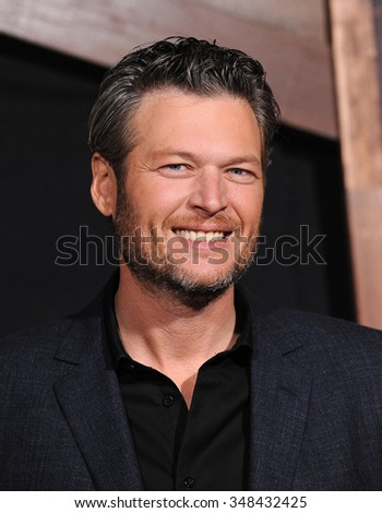 "LOS ANGELES - NOV 30:  Blake Shelton arrives to the ""The Ridiculous 6"" Los Angeles Premiere  on November 30, 2015 in Universal City, CA."