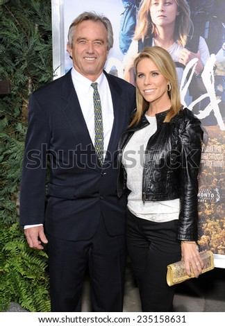 """LOS ANGELES - NOV 19:  Bobby Kennedy Jr & Cheryl Hines arrives to the """"Wild"""" Los Angeles Premiere on November 19, 2014 in Beverly Hills, CA                 - stock photo"""