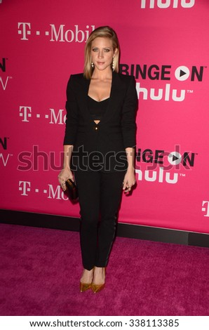 LOS ANGELES - NOV 10:  Brittany Snow at the T-Mobile Un-carrier X Launch Celebration at the Shrine Auditorium on November 10, 2015 in Los Angeles, CA - stock photo