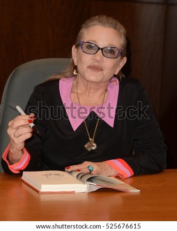 "LOS ANGELES - NOV 28:  Carrie Fisher at the Book Signing for ""The Princess Diarist"" at Barnes & Noble on November 28, 2016 in Los Angeles, CA"