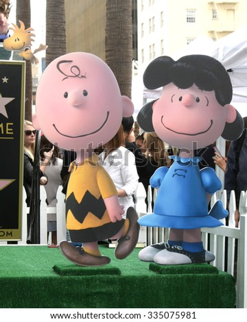 LOS ANGELES - NOV 2:  Charlie Brown, Lucy at the Snoopy Hollywood Walk of Fame Ceremony at the Hollywood Walk of Fame on November 2, 2015 in Los Angeles, CA - stock photo