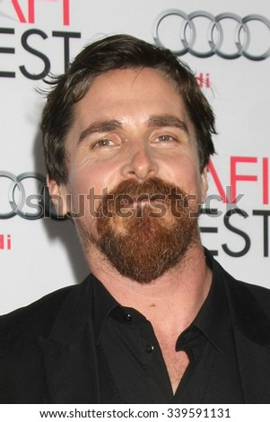 LOS ANGELES - NOV 12:  Christian Bale at the AFI Fest 2015 - Presented by Audi - The Big Short Gala Screening at the TCL Chinese Theater on November 12, 2015 in Los Angeles, CA - stock photo