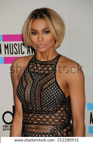 LOS ANGELES - NOV 24:  Ciara arrives at the 2013 American Music Awards Arrivals  on November 24, 2013 in Los Angeles, CA                 - stock photo