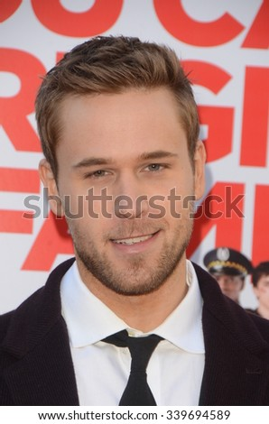 "LOS ANGELES - NOV 12:  Dan Amboyer at the ""Love the Coopers"" Los Angeles Premiere at the The Grove on November 12, 2015 in Los Angeles, CA - stock photo"